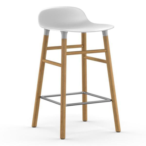 Normann Copenhagen Form Barstool  65cm / Oak / White: www.decorelo.co.uk