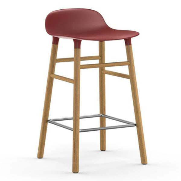 Normann Copenhagen Form Barstool  65cm / Oak / Red: www.decorelo.co.uk