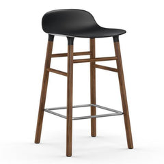 Normann Copenhagen Form Barstool  65cm / Walnut / Black: www.decorelo.co.uk