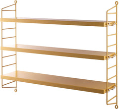 String Pocket Shelving Mustard Yellow  : www.decorelo.co.uk