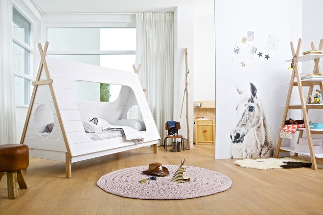 Furniture,Brands - Woood Kid's Teepee Cabin Bed