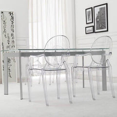 Kartell Philippe Starck plastic ghost Chairs transparent crystal clear : www.decorelo.co.uk
