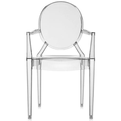 Kartell Louis Ghost Chair in Crystal clear transparent by Philippe Starck  : www.decorelo.co.uk
