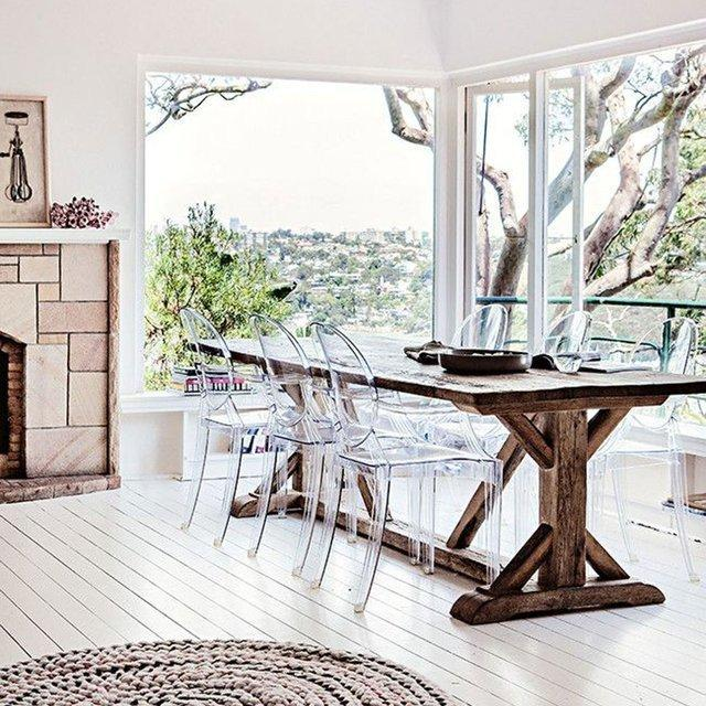 Kartell Louis ghost polycarbonate transparent dining Chair by Philippe Starck Crystal Clear  : www.decorelo.co.uk