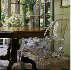 Louis Ghost armhair by Philippe Starck Kartell furniture : www.decorelo.co.uk