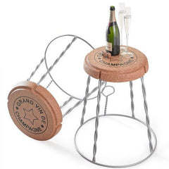 Champagne Cork Wire Cage Side Table XL Cork : www.decorelo.co.uk