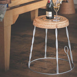 Furniture,Dining Room,Garden - Champagne Cork Wire Cage Side Table