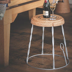 Champagne Cork Wire Cage Table  : www.decorelo.co.uk