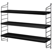 String Pocket Shelving Walnut & Black