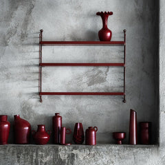 String Pocket Shelving Burgundy  : www.decorelo.co.uk