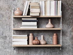 String Pocket Shelving Oak & White  : www.decorelo.co.uk