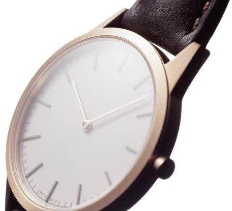 Uniform Wares C35 PVD Rose Gold & Brown Nappa Leather Strap  : www.decorelo.co.uk