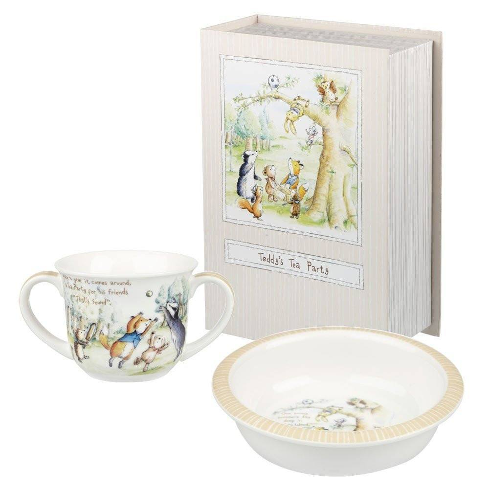 Gifts,Kitchen,Sale,Brands - Teddy's Tea Party Porringer & Mug Set By Churchill China