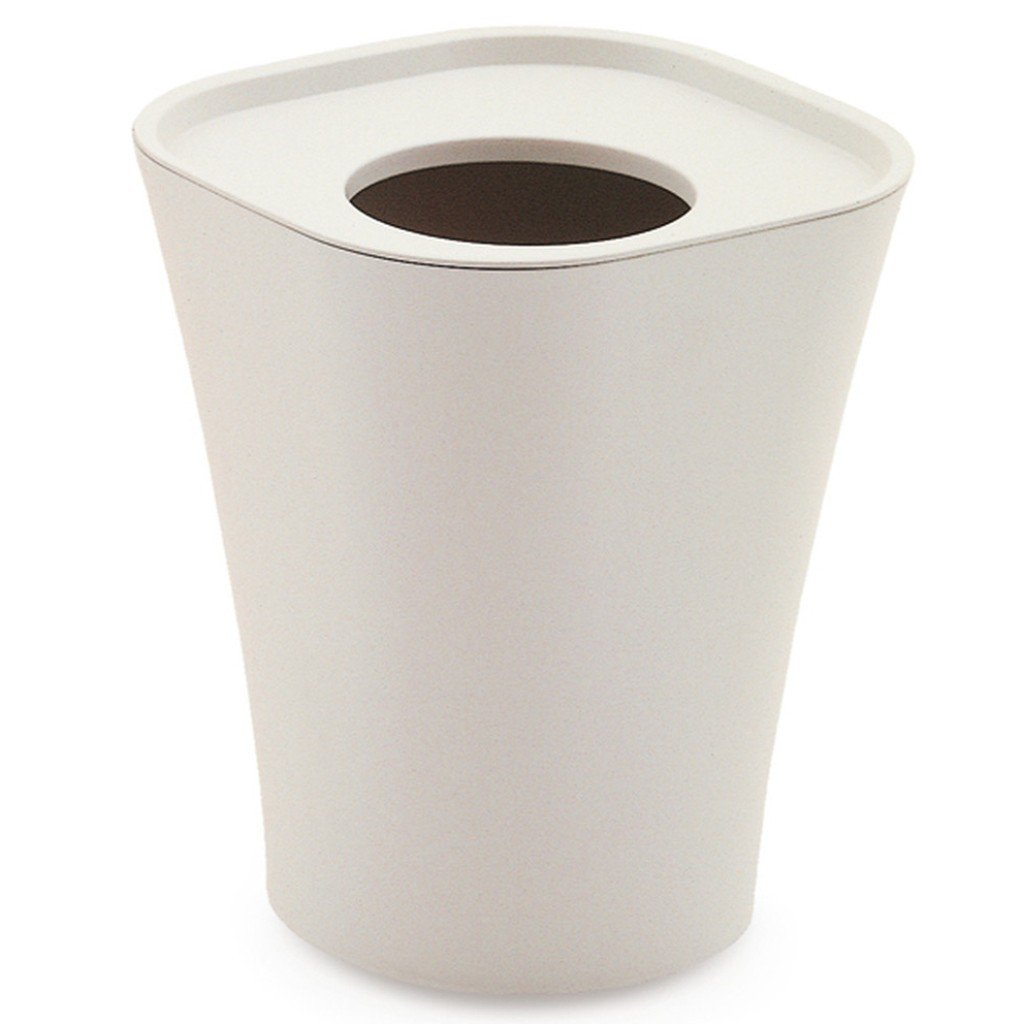 Magis Trash Waste Paper Bin  Large / White - IN STOCK: www.decorelo.co.uk