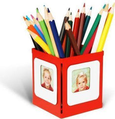 Creative Displays Petit Pencil Pot Photo Frame  Red: www.decorelo.co.uk