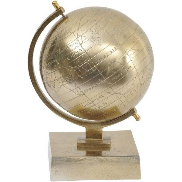 Home Accessories,Gifts,Sale,Brands - Gold Aluminium Globe On Stand
