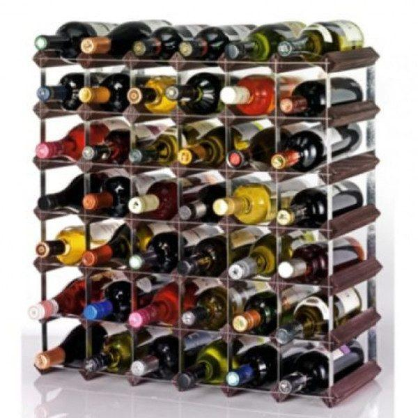Home Accessories,Kitchen,Gifts,Bestsellers - Ready To Assemble Large Wine Rack Pine And Steel