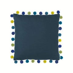 Bluebellgray Elie Pom Pom Cushion  Pacific Blue: www.decorelo.co.uk