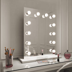 Hollywood Mirror Square 60cm x 80cm - White Base