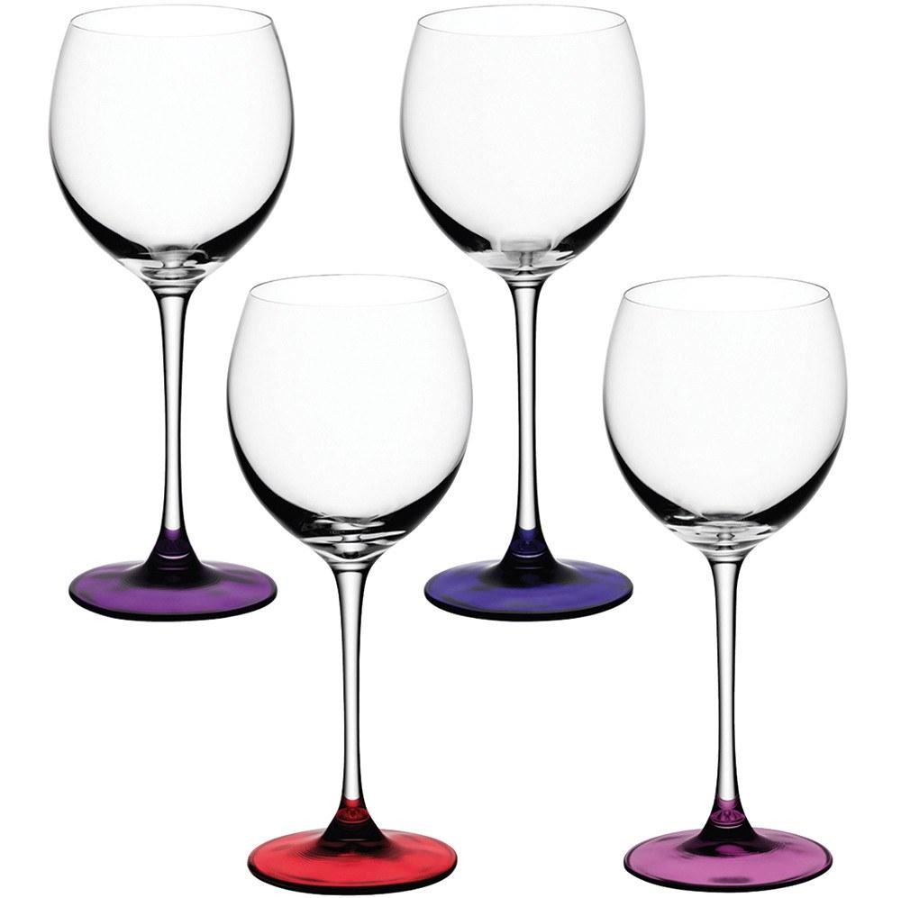 Kitchen,Brands,Sale,Gifts,Bestsellers - LSA Coro Set Of 4 Wine Glasses Berry