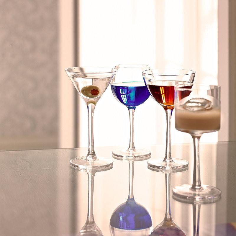 Kitchen,Gifts,Brands - LSA Lulu Liqueur Assorted Glasses Clear Set Of 4