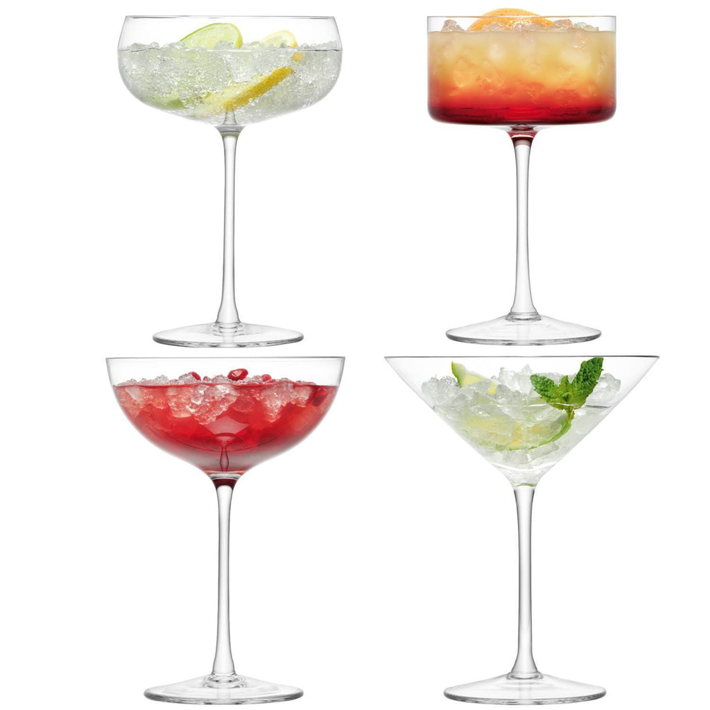 Kitchen,Gifts,Brands - LSA Set Of 4 Lulu Champagne Cocktail Glasses