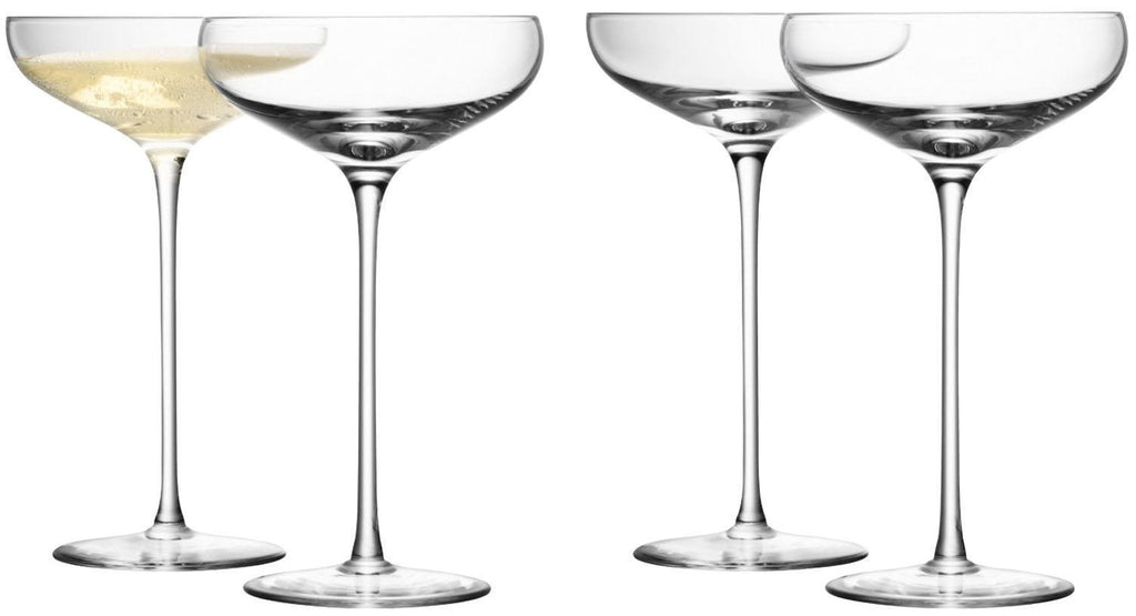Kitchen,Gifts - LSA Set Of 4 Wine Champagne Saucer Glasses