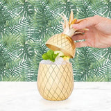 Kitchen,Latest Products,Gifts - Gold Pineapple Cocktail Tumbler With Straw