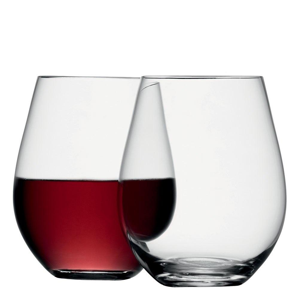 LSA Stemless Wine Glass Set of 4  : www.decorelo.co.uk