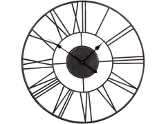 Libra Skeleton Wall Clock Black