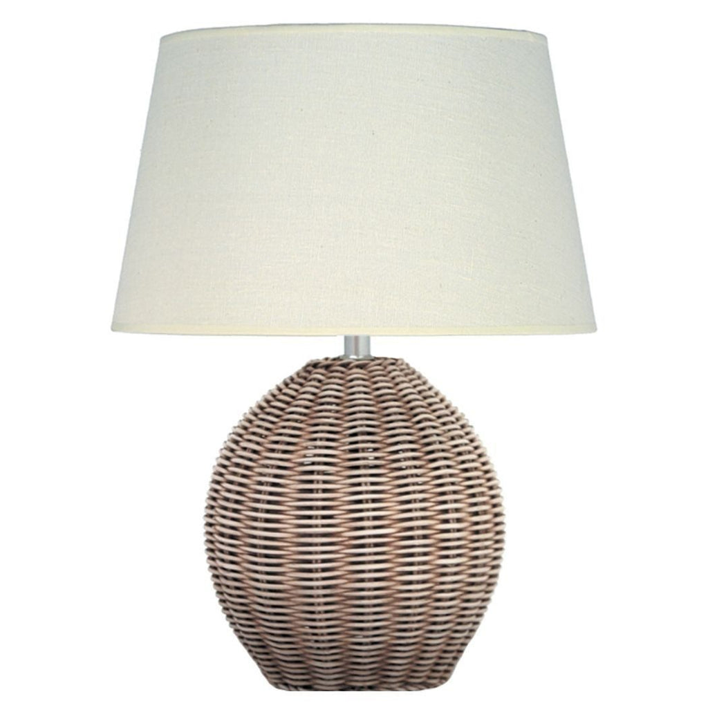 Aimbry Raffles Wicker Floor Lamp