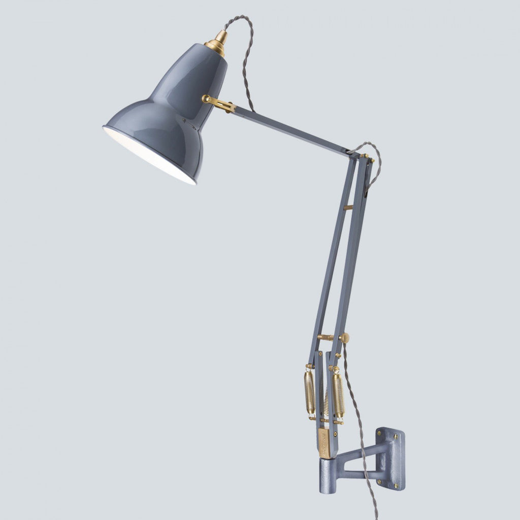 Anglepoise Original 1227 Brass Wall Mounted Light  Elephant Grey: www.decorelo.co.uk