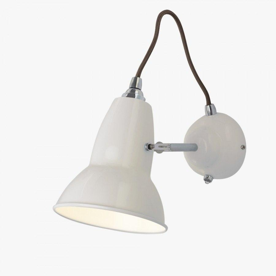 Anglepoise Original 1227 Wall Light  Linen White - Grey Cable: www.decorelo.co.uk