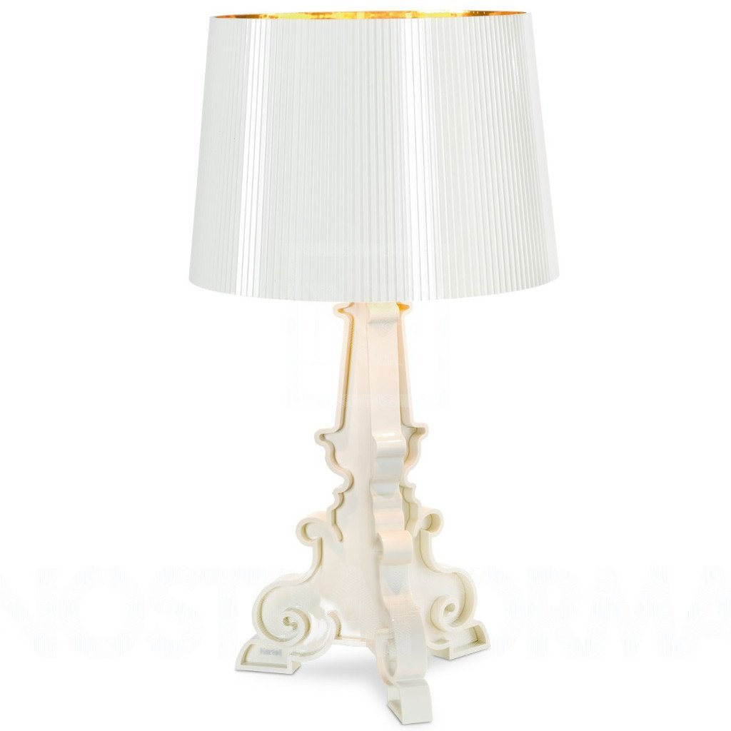 Kartell Bourgie Table Lamp  White/Gold: www.decorelo.co.uk
