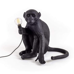 Seletti Monkey Sitting Down Floor Lamp Black  : www.decorelo.co.uk