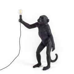 Seletti Monkey Standing Up Floor Lamp Black  : www.decorelo.co.uk