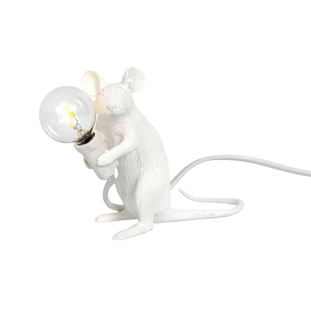 Lighting,Brands,Gifts - Seletti Mouse Sitting Table Lamp