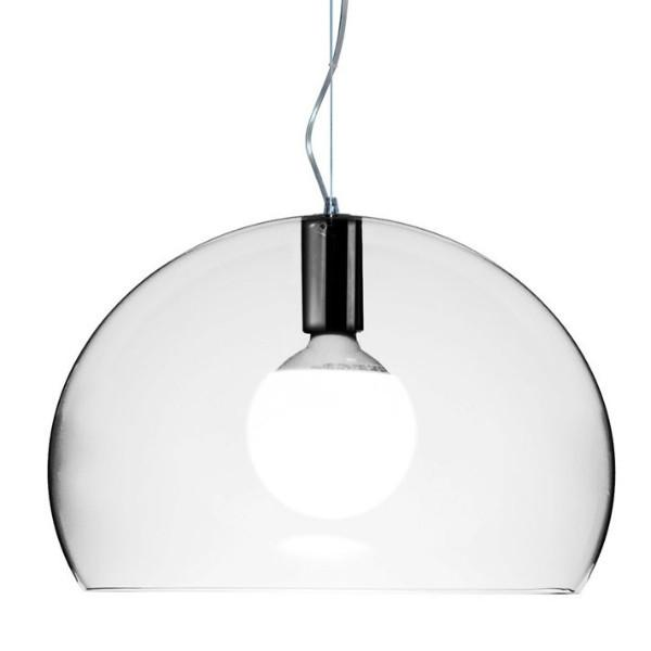 Kartell Small Fly Suspension Light  Crystal: www.decorelo.co.uk