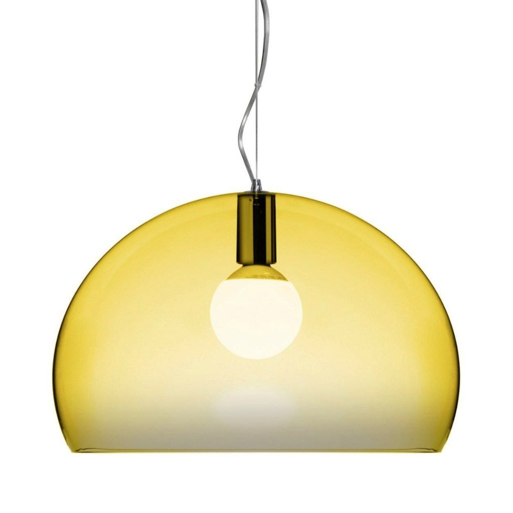 Kartell Small Fly Suspension Light  Yellow: www.decorelo.co.uk