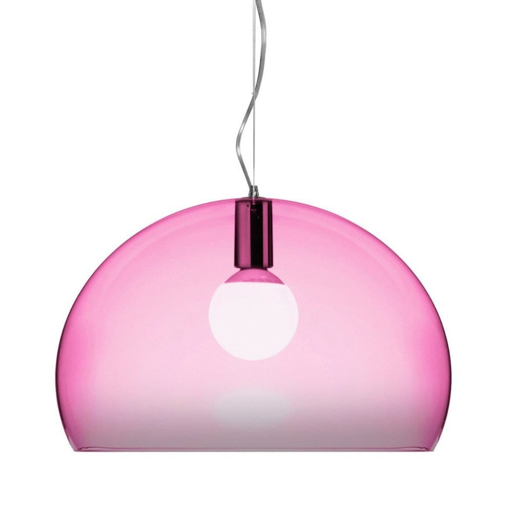 Kartell Small Fly Suspension Light  Cardinal Red: www.decorelo.co.uk