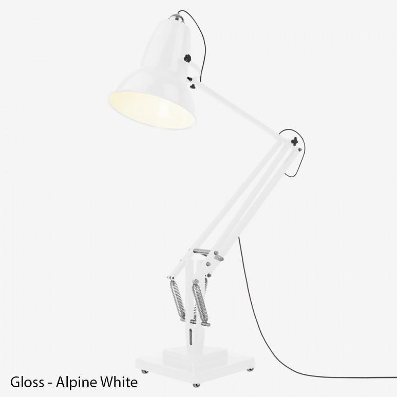 Anglepoise Original 1227 Giant Floor Lamp  GLOSS - Alpine White with Grey Cable: www.decorelo.co.uk