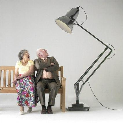 Giant Size Floor Anglepoise Lamp