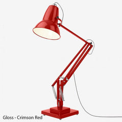 Anglepoise Original 1227 Giant Floor Lamp  GLOSS - Crimson Red with Black Cable: www.decorelo.co.uk