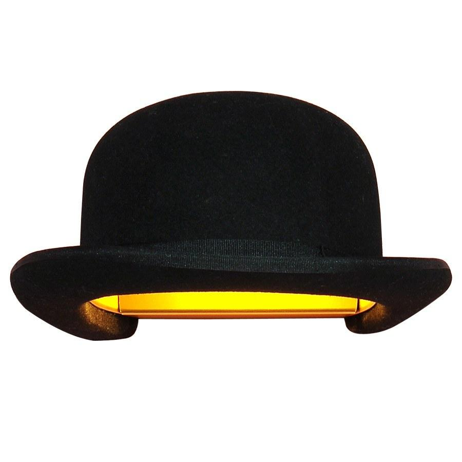 Innermost Jeeves Bowler Hat Wall Light by Jake Phipps