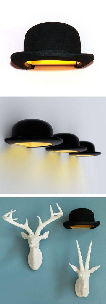 Innermost Jeeves Bowler Hat Wall Light by Jake Phipps  : www.decorelo.co.uk
