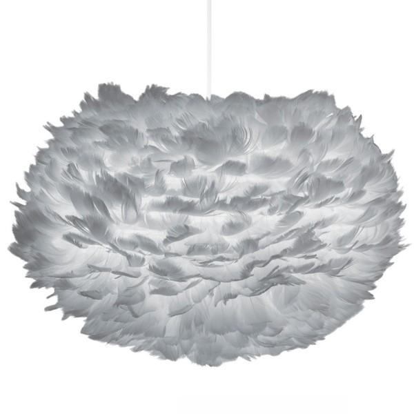 Lighting,Brands - Vita Living Eos Grey Feather Pendant Light Shade