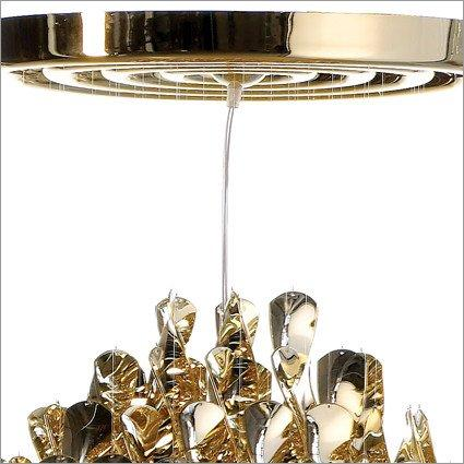 Lighting,Designers,Brands,Latest Trends - Verpan Spiral Gold SP2 Double Ceiling Light