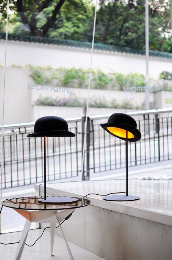 Lighting,Gifts,Brands,Sale,Bestsellers - Innermost Jeeves Bowler Hat Table Lamp