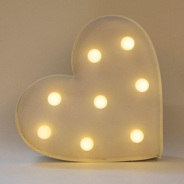 Lighting,Gifts - Vintage Carnival Light Heart LED Wall Decor