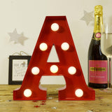Lighting - Red Vintage Carnival LED Letter